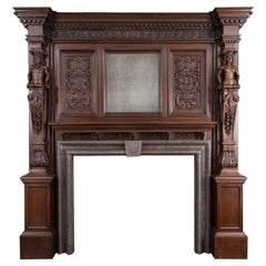 Antique English Oak Mantelpiece