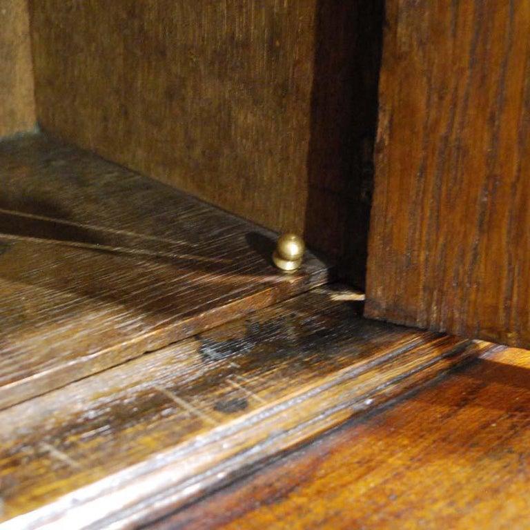 Antique English Oak Queen Anne Slant-Front Desk For Sale 7