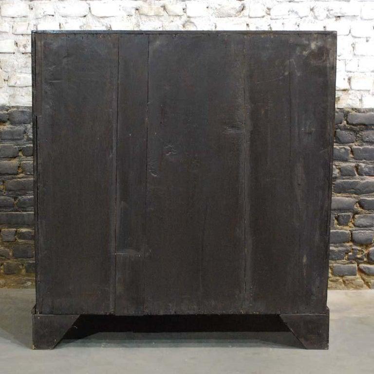 Antique English Oak Queen Anne Slant-Front Desk For Sale 9