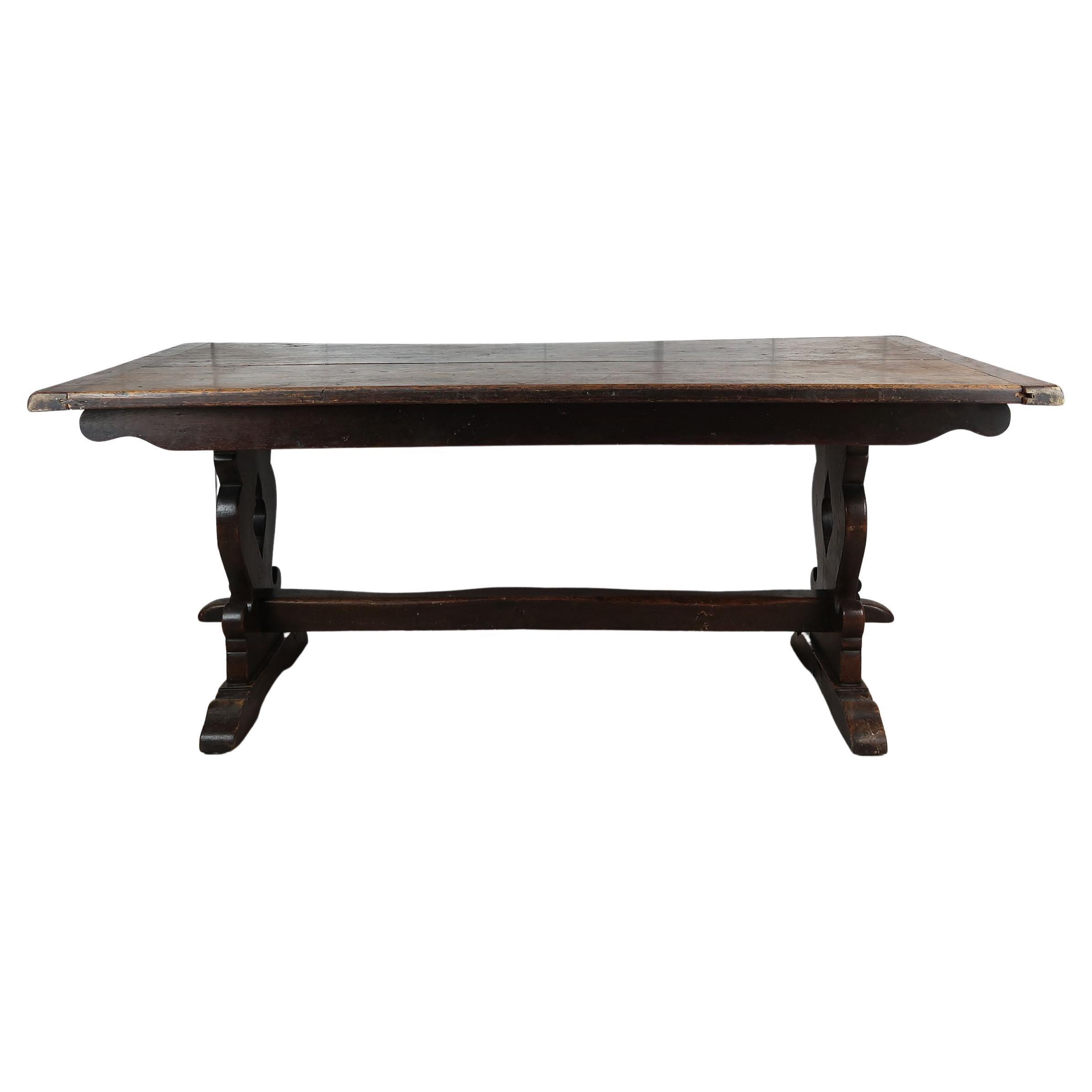 Antique English Oak Refectory Table, Circa 1920