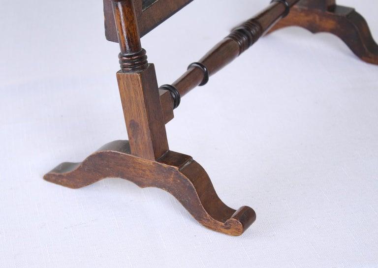 19th Century Antique English Oak Shaving Mirror For Sale