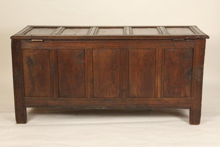 Antique English Oak Trunk For Sale 7