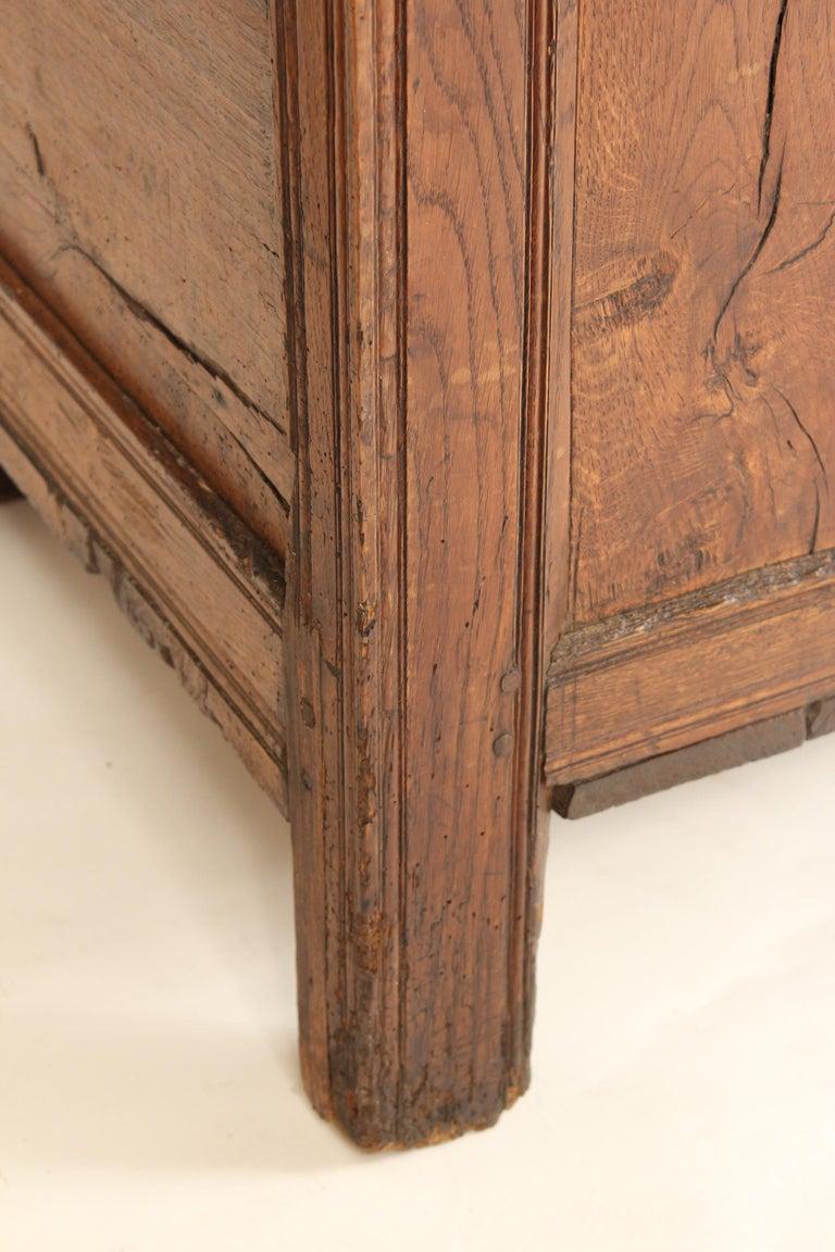 Antique English Oak Trunk For Sale 4