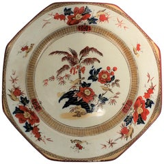 Antique English Octagonal Bird Plate by Wedgwood