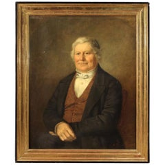 Antique English Painting Portrait of a Gentleman from the 19th Century