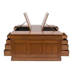 Antique English Partner Desk
