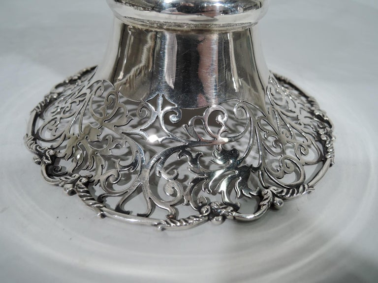 Antique English Pierced Sterling Silver Basket For Sale 2