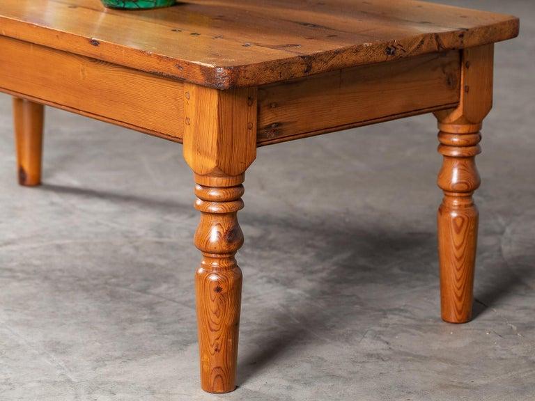 Antique English Pine Coffee Table Turned Legs, circa 1875 ...