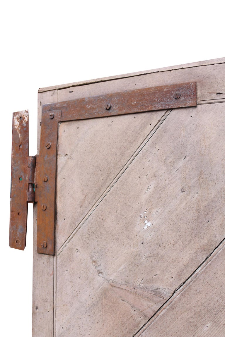 19th Century Antique English Pine Front Door For Sale
