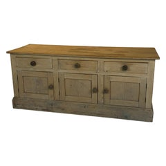 Antique English Pine Sideboard, 19th Century