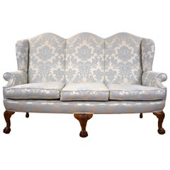 Antique English Queen Anne Style Couch