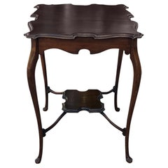 Antique English Queen Anne Walnut End Table
