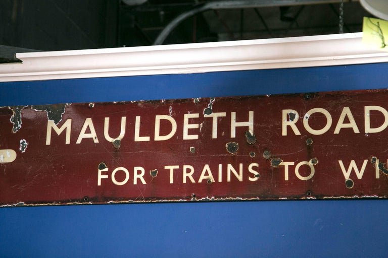 Other Antique English Railway Sign For Sale