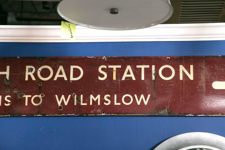 Painted Antique English Railway Sign For Sale