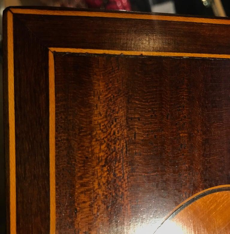 Antique English Regency Satinwood Inlaid Mahogany Box For Sale 3