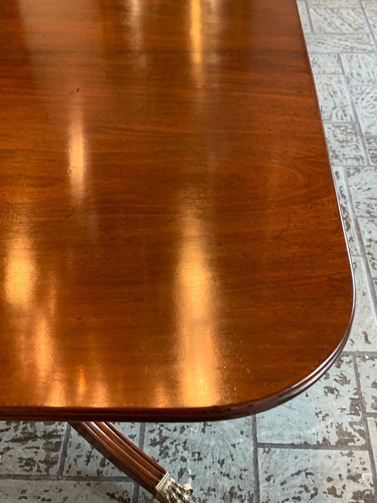 19th Century Antique English Regency Mahogany 2-Pedestal Dining Table