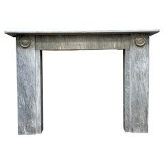 Antique English Regency Marble Fireplace Mantel