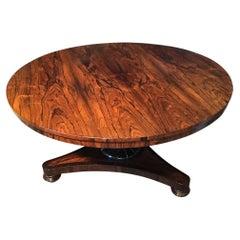Antique English Regency Rosewood Centre Table Circa