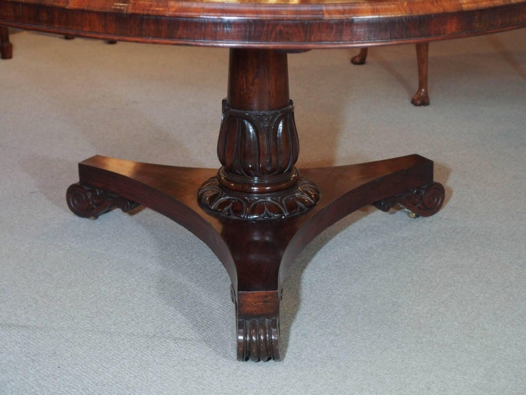 19th Century Antique English Regency Rosewood Centre Table For Sale
