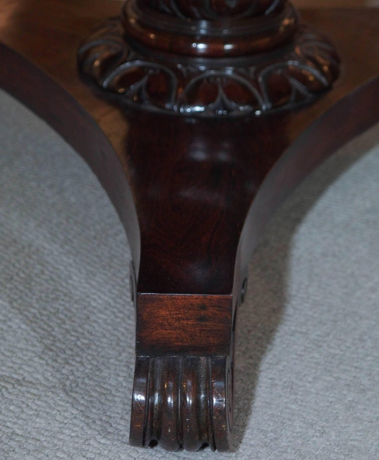 Antique English Regency Rosewood Centre Table For Sale 3