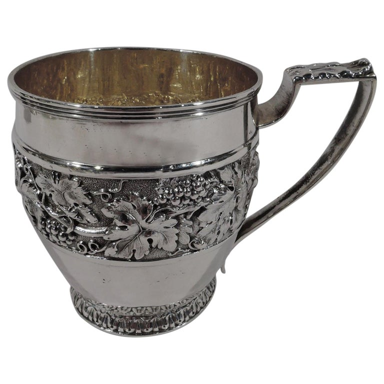Antique English Regency Sterling Silver Baby Cup by Emes & Barnard For Sale