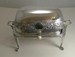 Antique English Revolving Breakfast Dish by Alexander Clark c.1895