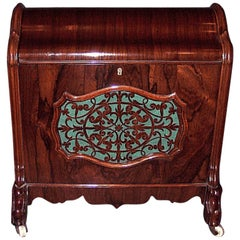 Antique English Rosewood Covered Canterbury, circa 1870