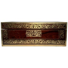 Antique English Rosewood Regency Inlaid Lap Desk, circa 1830