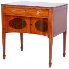 Antique English Satinwood and Mahogany Dressing Table