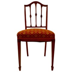 Antique English Satinwood Occasional Chair, circa 1870
