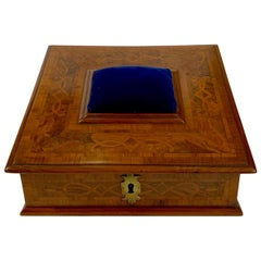 Antique English Sewing Box or Jewel Box, circa 1850-1860