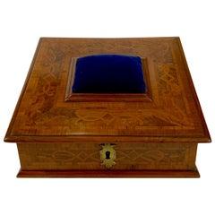 Antique English Sewing Box or Jewel Box, circa 1850-1860