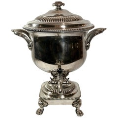 Antique English Sheffield Hot Water Kettle, circa 1830