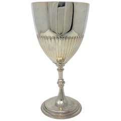 Antique English Sheffield Silver Goblet, circa 1880