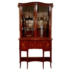 Antique English Sheraton Drop Front Secretary Bookcase, circa 1880-1890