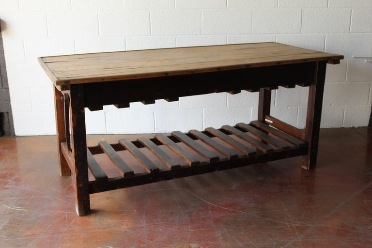 Antique English Silk Cutting Table For Sale 8