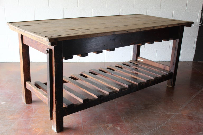 Antique English Silk Cutting Table For Sale 1