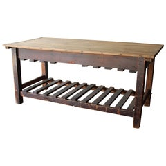 Antique English Silk Cutting Table