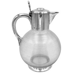 Antique English Silver Claret Jug