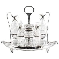 Antique English Silver Condiment Cruet Set Paul Storr, 18th Century