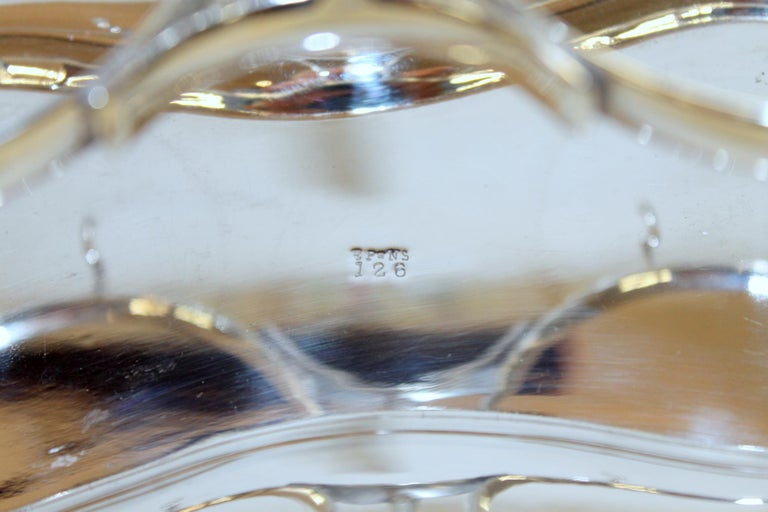 Antique English Silver Plate Hand-Cut Crystal Barrel Shape Double Jar Pickle Set For Sale 3