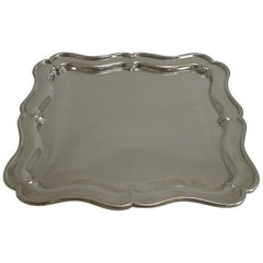 Antique English Silver Plated Cocktail / Drinks Tray by Martin Hall, circa 1900
