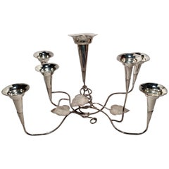 Antique English Silver Plated Floral Epergne, circa 1890