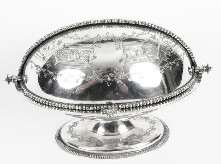 Late 19th Century Antique English Silver Plated Roll Over Butter Dish, 19th Century For Sale
