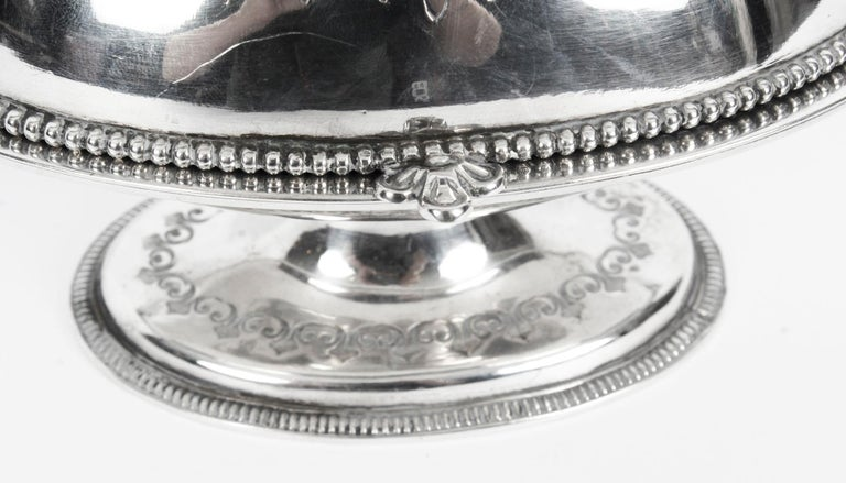 Antique English Silver Plated Roll Over Butter Dish, 19th Century For Sale 1