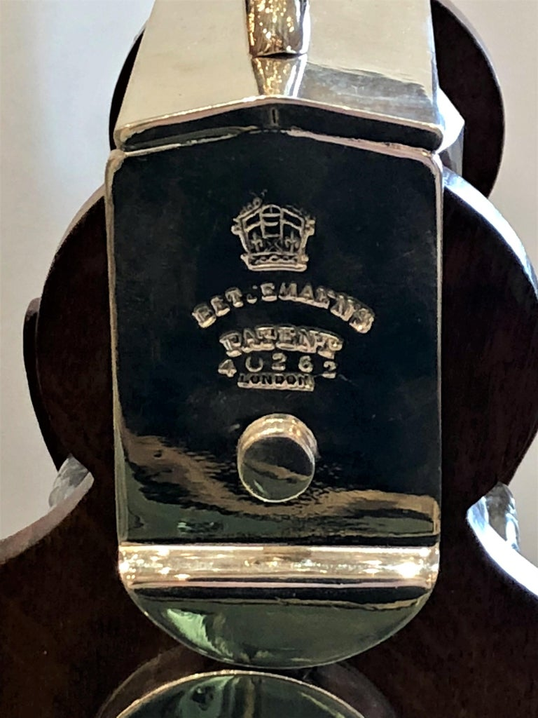 19th Century Antique English Silver Plated Single Bottle Tantalus, circa 1880-1890 For Sale