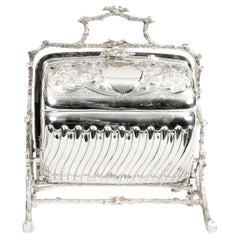 Antique English Silver Plated Sweets Biscuit Box Mappin & Webb, 19th Century