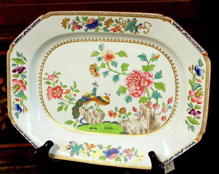 Fabulous quality antique English Spode earthenware hand painted