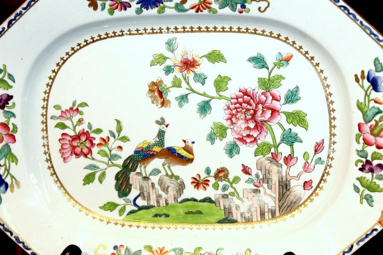 19th Century Antique English Spode Earthenware Hand Painted