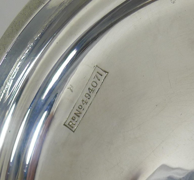 Antique English Sterling Silver Art Nouveau Reticulated Tazza / Bowl / Comport For Sale 3